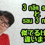 vol.482 「3 năm sau」と「sau 3 năm」の違い